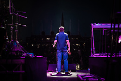 The Proclaimers at Edinburgh Castle 21 July 2019; The Proclaimers play their home town with a live show at Edinburgh Castle. Charlie Reid sings in front of the ancient silhouette of Edinburgh's Old Town.<br /> <br /> (c) Chris McCluskie | Edinburgh Elite media