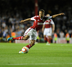 Bristol City's Bobby Reid  - Photo mandatory by-line: Alex James/JMP - Tel: Mobile: 07966 386802 04/09/2013 - SPORT - FOOTBALL -  Ashton Gate - Bristol - Bristol City V Bristol Rovers - Johnstone Paint Trophy - First Round - Bristol Derby