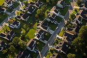 Aerial view of a suburban housing development in Mt Pleasant, SC