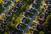 Aerial view of a suburban housing development in Mt Pleasant, SC