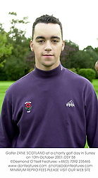 Golfer ZANE SCOTLAND at a charity golf day in Surrey on 10th October 2001.OSY 58