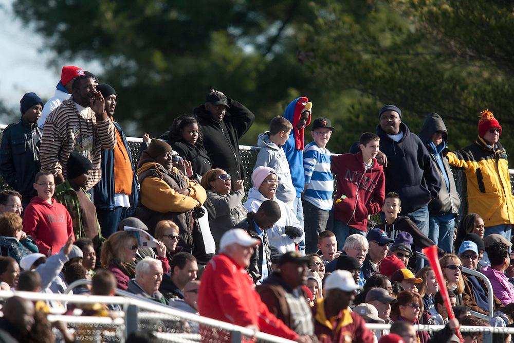 Glassboro fans;..NJSIAA South Jersey Group 1 Title match between Pennsville High School and Glassboro High School held at Coach Richard Wacker Stadium on the campus of Rowan University in Glassboro, NJ on Saturday, December 3, 2011. (photo: Mat Boyle)