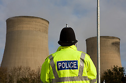 "© under license to London News Pictures. FILE PICTURES 22/11/2010: 20 have gone on trial, accused of attempting to shut down the Ratcliffe-On-Soar coal-fired power station, near Nottingham, in April 2009. In October that same year, protesters from ""Camp for Climate Action"" and police clashed at the E.on operated station."