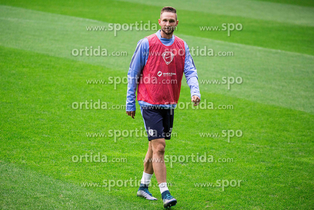 Tim Matavz during practice session of Slovenian National Football team two days before Euro 2016 Qualifying game between Slovenia and Lithuania, on October 7, 2015 in SRC Stozice, Ljubljana Slovenia. Photo by Vid Ponikvar / Sportida