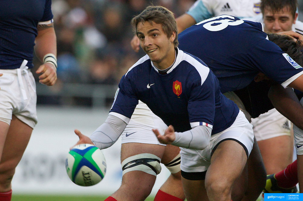 Jeremy Gondrand, France, in action during the Argentina V France group stage match at Estadio El Coloso del Parque, Rosario, Argentina, during the IRB Junior World Championships. 9th June 2010. Photo Tim Clayton.....