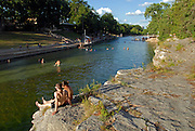 Barton Springs Pool in Austin Texas, July 14, 2007. Barton Springs is a natural springfed pool that has come under increasing pressure from degraded water quality due to urbanization of the Texas Hill Country.