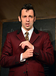 Lady Killers.<br /> Ralf Little (Harry) on stage in the Lady Killlers Vaudeville Theatre<br /> London, United Kingdom<br /> Monday, 8th July 2013<br /> Picture by Nils Jorgensen / i-Images