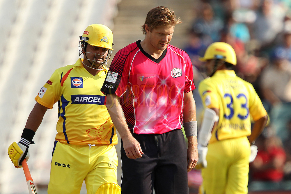 Shane Watsson walks back during match 3 of the Karbonn Smart CLT20 South Africa between The Chennai Superkings and the Sydney Sixers held at The Wanderers Stadium in Johannesburg, South Africa on the 9th October 2012..Photo by Ron Gaunt/SPORTZPICS/CLT20