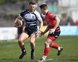 Pontypridds' Alex Webber<br /> Photographer Mike Jones/Replay Images<br /> <br /> Aberavon RFC v Pontypridd RFC <br /> Principality Premiership<br /> Saturday 14th April 2018<br /> Talbot Athletic Ground<br /> <br /> World Copyright © Replay Images . All rights reserved. info@replayimages.co.uk - http://replayimages.co.uk