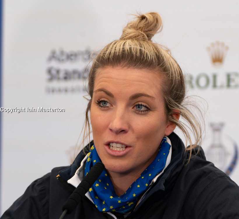 Auchterarder, Scotland, UK. 10 September 2019. Press conference by team at Gleneagles. Pictured Mel Reid. Iain Masterton/Alamy Live News