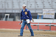 Oxford High's track coach SCott Kendricks during a track meet at Oxford High School in Oxford, Miss. on Saturday, March 13, 2010.