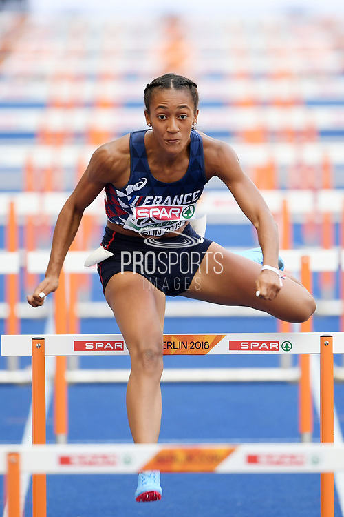 Solene Ndama competes in women 100m hurdles during the European Championships 2018, at Olympic Stadium in Berlin, Germany, Day 2, on August 8, 2018 - Photo Philippe Millereau / KMSP / ProSportsImages / DPPI