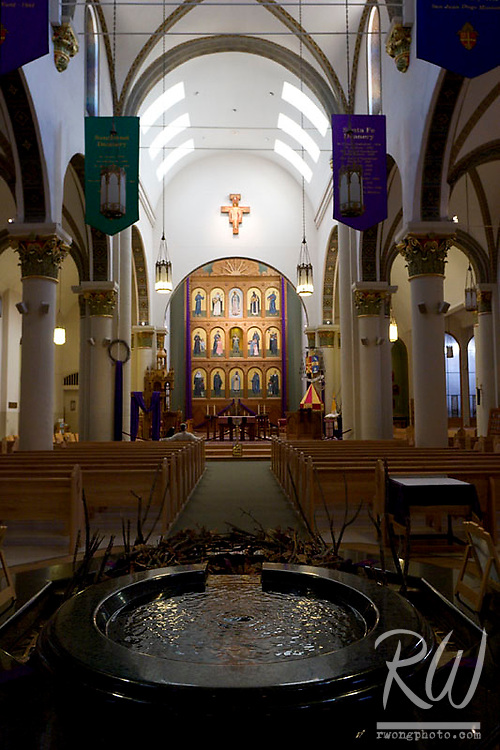 Saint Francis de Assisi Cathedral Interior, Santa Fe, New Mexico
