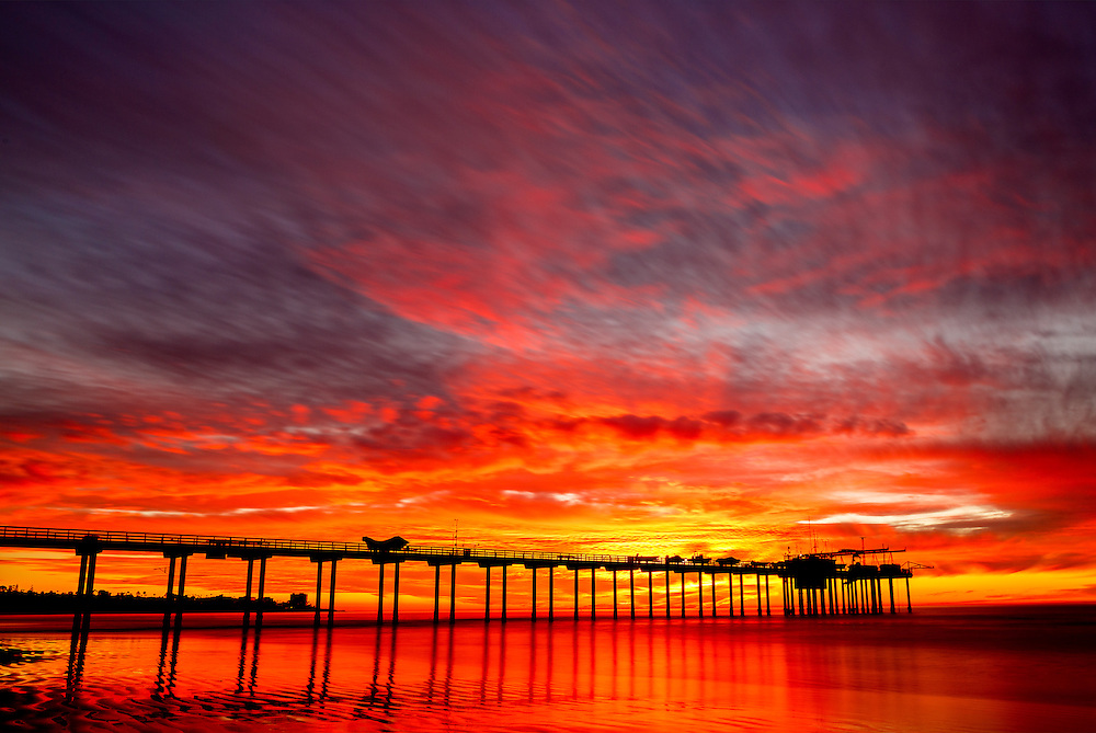 Sunset, Scripps Pier