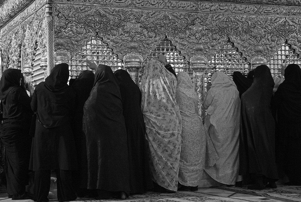 Women praying at the Sayyidah Ruqayya Mosque, Damascus