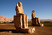 EGYPT, THEBES, WEST BANK Colossi of Memnon; statues of Amenophis
