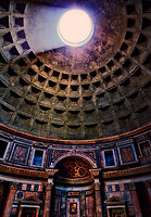 """The oculus of the 2000 year-old Pantheon of Santa Maria""...<br />