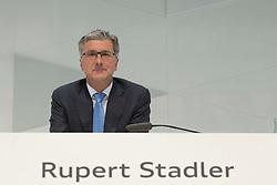 10.03.2015, Audi Forum, Ingolstadt, GER, AUDI AG Jahrespressekonferenz, im Bild Rupert Stadler, Vorstandvorsitzender Audi AG // during AUDI AG Annual Press Conference at the Audi Forum in Ingolstadt, Germany on 2015/03/10. EXPA Pictures © 2015, PhotoCredit: EXPA/ Eibner-Pressefoto/ Strisch<br /> <br /> *****ATTENTION - OUT of GER*****