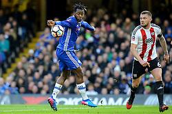 Michy Batshuayi of Chelsea accidental hand ball - Mandatory by-line: Jason Brown/JMP - 28/01/2017 - FOOTBALL - Stamford Bridge - London, England - Chelsea v Brentford - Emirates FA Cup fourth round