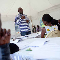 "Mr. Isacc Awuondo, Managing Director & Chief Executive Officer at Commercial Bank of Africa Limited, discusses effective financial management at the  Fall 2011 Network of Young Women Leaders (NoYWL) ""Answer the Call to Lead"" training."