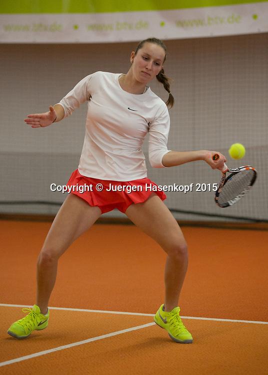 Marketa Vondrousova  (CZE)<br /> <br /> Tennis - Ismaning Open 2015 - ITF 10.000 -  TC Ismaning - Ismaning - Bavaria - Germany - 29 October 2015. <br /> &copy; Juergen Hasenkopf