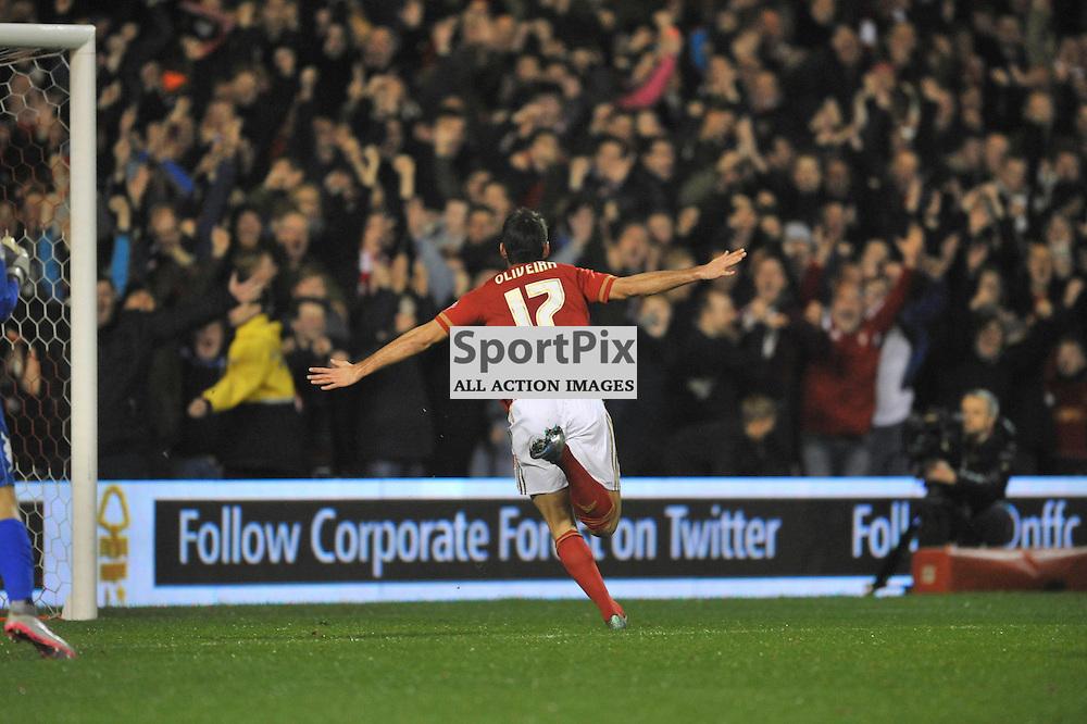 NELSON CELE HIS 1 ST GOAL Nottingham Forest v Leeds United, Sky Bet Championship, City Ground, Sunday 27th December 2015