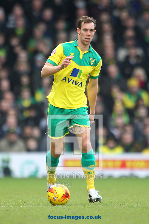 Steven Whittaker of Norwich in action during the Sky Bet Championship match at Carrow Road, Norwich<br /> Picture by Paul Chesterton/Focus Images Ltd +44 7904 640267<br /> 14/02/2015
