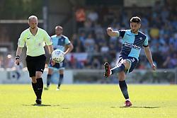 Joe Jacobson of Wycombe Wanderers takes a free kick - Mandatory by-line: Jason Brown/JMP - 05/05/2018 - FOOTBALL - Adam's Park - High Wycombe, England - Wycombe Wanderers v Stevenage - Sky Bet League Two