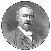 Heinrich Schliemann (1822-1890) Austrian archaeologist. Engraving from 'The Illustrated London News', 3 January 1891.