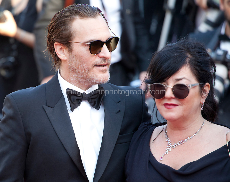 Actor Joaquin Phoenix and Lynne Ramsay arriving to the Closing Ceremony and awards at the 70th Cannes Film Festival Sunday 28th May 2017, Cannes, France. Photo credit: Doreen Kennedy