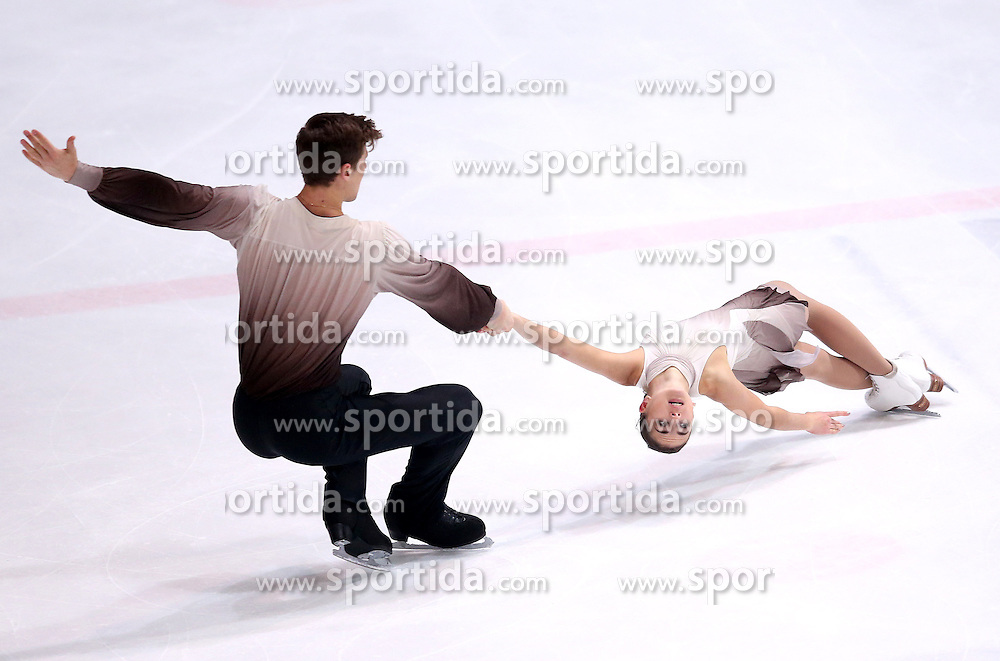 04.12.2015, Dom Sportova, Zagreb, CRO, ISU, Golden Spin of Zagreb, freies Programm, Paare, im Bild Natalja Zabijako - Alexander Enbert, Russia. // during the 48th Golden Spin of Zagreb 2015 doubles Free Program of ISU at the Dom Sportova in Zagreb, Croatia on 2015/12/04. EXPA Pictures &copy; 2015, PhotoCredit: EXPA/ Pixsell/ Igor Kralj<br /> <br /> *****ATTENTION - for AUT, SLO, SUI, SWE, ITA, FRA only*****