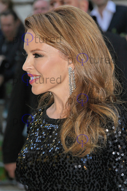 LONDON - SEPTEMBER 18: Kylie Minogue attended the UK film premiere of 'Holy Motors' at the Curzon Mayfair cinema, London, UK. September 18, 2012. (Photo by Richard Goldschmidt)
