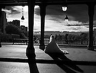 France. Paris. 16th district .  Bir Hakeim bridge in the 16th district crossing the Seine river