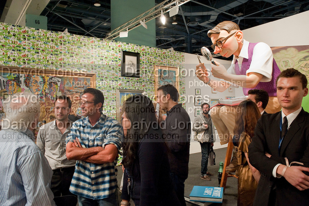 TONY SHAFRAZI; BERNIE CHASE, Vernissage. Opening of Art Basel Miami Beach. Convention Centre.  Miami Beach. 30 November 2010. -DO NOT ARCHIVE-© Copyright Photograph by Dafydd Jones. 248 Clapham Rd. London SW9 0PZ. Tel 0207 820 0771. www.dafjones.com.