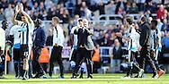Newcastle United manager Rafa Benitez c) claps the fans after the Barclays Premier League match at St. James's Park, Newcastle<br /> Picture by Simon Moore/Focus Images Ltd 07807 671782<br /> 15/05/2016