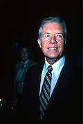 Presidential candidate Jimmy Carter on the eve of his 1976 Iowa primary victory. - To license this image, click on the shopping cart below -