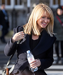 © Licensed to London News Pictures. 14/01/2019. London, UK. Conservative MP ESTHER MCVEY is seen near the Houses of Parliament in London the day before MPs vote of British Prime Minister Theresa May's deal on leaving the EU. Photo credit: Ben Cawthra/LNP