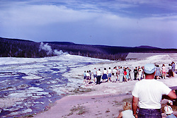 Vacation trip to Wyoming - Yellowstone National Park-  circa 1963<br /> <br />  Photos taken by George Look.  Image started as a color slide.