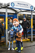 Wycombe Wanderers mascot meets young fans ahead of the EFL Sky Bet League 2 match between Wycombe Wanderers and Carlisle United at Adams Park, High Wycombe, England on 3 February 2018. Picture by Stephen Wright.