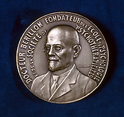 Edgar Berillon, French psychologist, 1929. Obverse of a medal struck to commemorate the 40th anniversary of Berillon's (1854-1948) foundation of the Ecole de Psychologie et Societe de Psychotherapie in 1889.