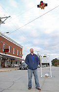 Jonathan Lawrence, current Alburnett city council member and candidate for mayor, on Main Street in Alburnett on Thursday, October 24, 2013.
