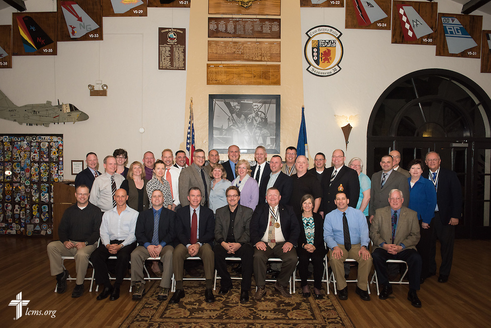 Formal portrait of participants in the 2015 West Coast Lutheran Chaplains Professional Development Seminar Thursday, Jan. 29, 2015, at North Island Naval Air Station in San Diego, Calif. LCMS Communications/Erik M. Lunsford