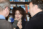 HARRY ENFIELD; HELENA BONHAM-CARTER; ANGUS DEAYTON, Allie Esiri's The Love Book launch party , Daunt Books <br /> 83 Marylebone High Street, London. 5 February 2014