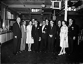 "1962 - Crew members of the ""Cambria"" touring W.D. and H.O. Wills factory, Dublin"