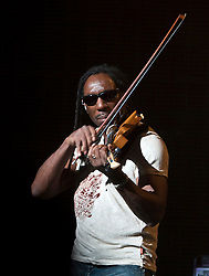 DMB violinist Boyd Tinsley.  The Dave Matthews Band performed at the John Paul Jones Arena on the Grounds of the University of Virginia in Charlottesville, VA on April 17, 2009