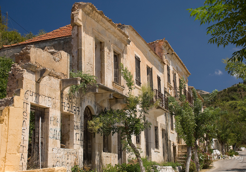 Ruins of classical old buildings in Asos, Kefalonia, The Ionian Islands, Greece