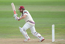 Somerset's James Hildreth in action. - Photo mandatory by-line: Alex Davidson/JMP - Mobile: 07966 386802 - 22/08/15 - SPORT - CRICKET - LV County Championship Division One - Day Two - Somerset v Worcestershire - The County Ground, Taunton, England.