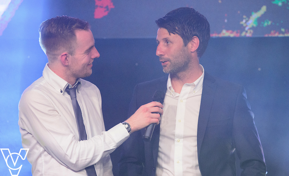 Rob Makepeace interviews Danny Cowley<br /> <br /> Lincoln City Football Club's 2016/17 End of Season Awards night - Champions Seasons Awards Dinner - held at the Lincolnshire Showground.<br /> <br /> Picture: Andrew Vaughan for Lincoln City Football Club<br /> Date: May 20, 2017 Champions Seasons Awards Dinner: