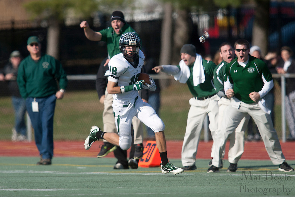 West Deptford High School's Tommy Jakubowski (18)..NJSIAA South Jersey Group 2 Title match between West Deptford High School and Haddonfield Memorial  High School held at Coach Richard Wacker Stadium on the campus of Rowan University in Glassboro, NJ Saturday, December 3, 2011. (photo: Mat Boyle)