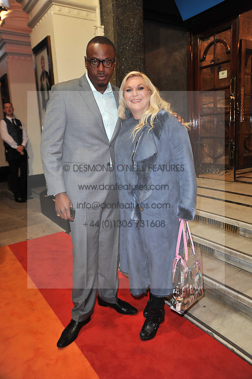 VANESSA FELTZ and BEN OFOEDU arrive at the press night of the new Andrew Lloyd Webber  musical 'The Wizard of Oz' at The London Palladium, Argylle Street, London on 1st March 2011 followed by an aftershow party at One Marylebone, London NW1